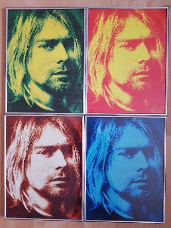 Kunstdrucke Kurt Cobain im Stil von Andy Warhol in Karlsruhe - Kunst ...