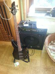 Bassgitarre mit Zubehör