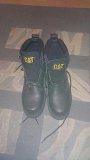 Cat Caterpillar Boots in schwarz