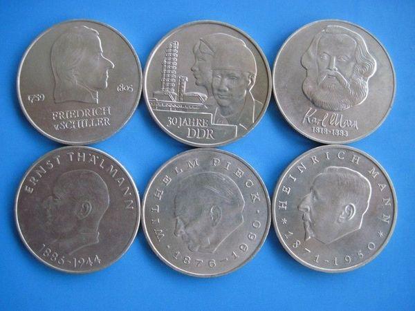 6 X 20 Mark Ddr Gedenkmünzen 1971 1983 In Schwanewede Münzen