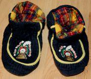 Erstlings-Schuhe für Jungen mit Lokomotive - Baby-Schuhe
