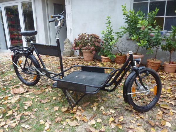 Lastenrad - Frankenthal - Mit dem Fahrrad kann man bis zu 100 kg transportieren. Es eignet sich auch gut als Werbeträger und darf überall geparkt werden. Gegen Gebot abzugeben. - Frankenthal