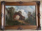 O Baumgarten ausdruckstarkes Antik-Öl-Gemälde auf