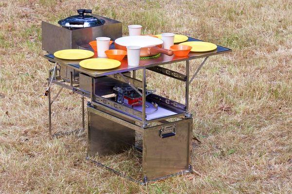 Outdoor Küche Für Camping : Campingküche kochbox gaskocher mobile küche campen edelstahl dtbd