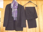 klassischer Anzug schwarz Größe 48