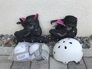 Inlineskates Größe 41 mit Helm