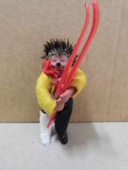 Steiff Mecki Figur mit Ski