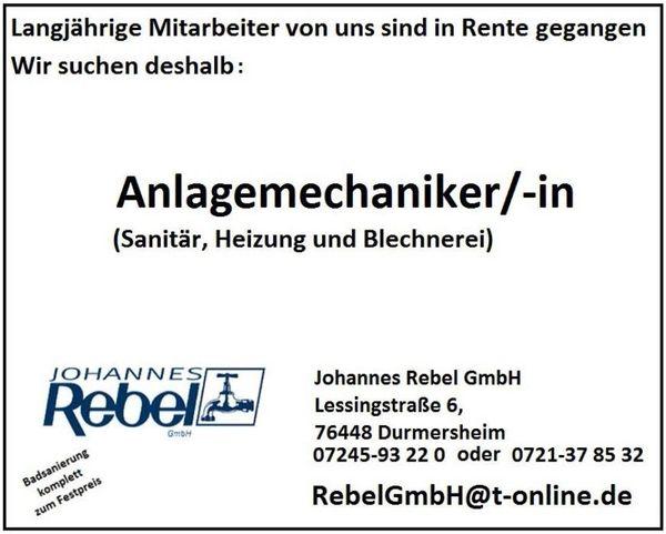 Klempner Mannheim jobangebote wir stellen ein anlagenmechaniker für sanitär