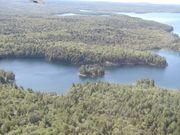 Malerische private Wildnis-Insel mit zwei