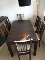 IKEA Esstisch mit Stühlen ausziehbar