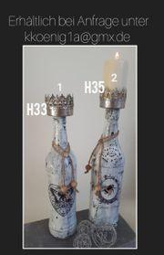 Kerzenhalter schwarz weiß