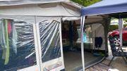 DWT Wohnwagen Vorzelt mit Alugestänge