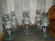 Bonboniere Glas Osterhase Set Bonboniere
