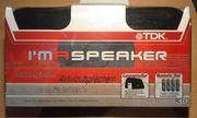 CD-Case mit portablem Aktivlautsprecher von TDK