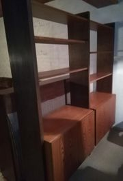 Raumteiler - Regal - Holz massiv - braun -