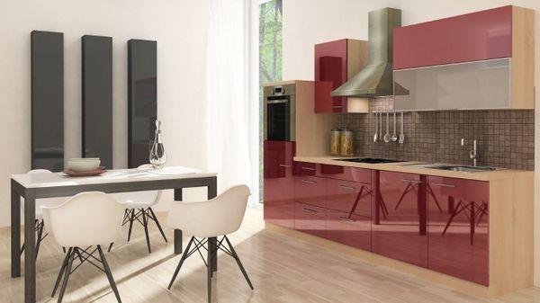 Respekta Premium Küche Küchenzeile Einbauküche 280 cm Akazie ...