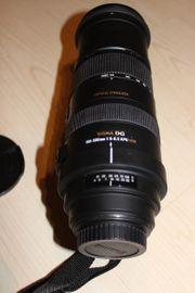Objektiv Sigma 150-500 Einbeinsativ