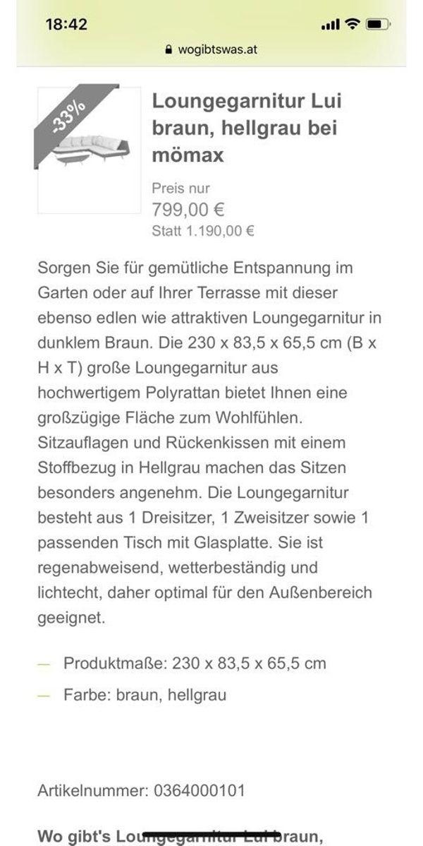 Rießige Gartenlounge mit Tisch in Plüderhausen - Gartenmöbel kaufen ...