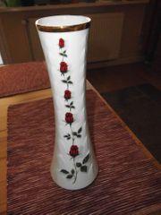 Blumenvase mit Rosenmotiv 70 er