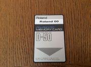 Roland D-50 D-550 Memory Card
