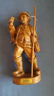 Echholz-Dekorationsfigur Motiv Angler ca 28