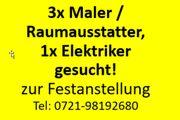 Maler Raumausstatter Elektriker zur Festanstellung