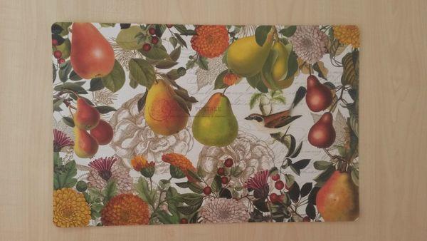 Tisch-Set Bastelpapier mit herbstlichem Motiv