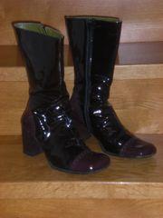 COX Lack-Leder Stiefel in zwei Lilatönen
