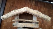 Holz- Vogelfütterungshaus offen mit Dach