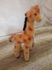 Stofftier alt Giraffe
