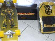 Bumble Bee Skateboard und Rucksack - neu