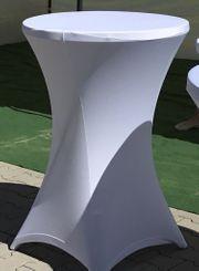 Hussen Tischhusse rund 80cm Verleih