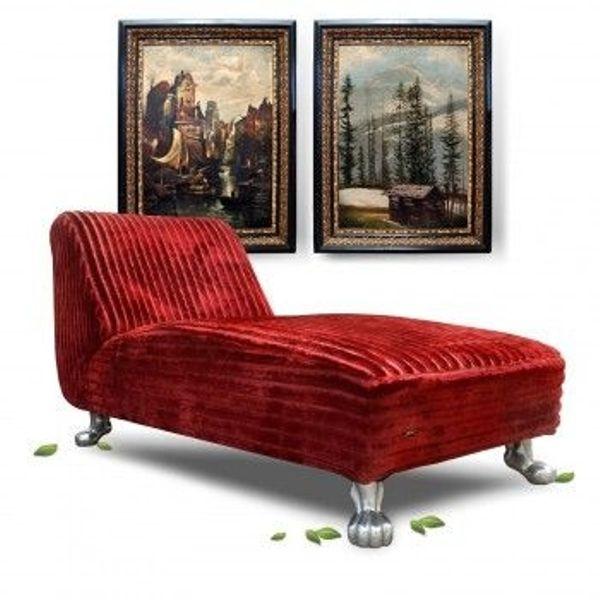 Bretz Liege Sofa Longchair Rot Designklassiker