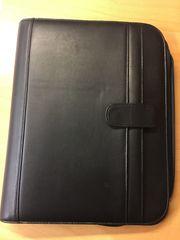 Schreibmappe schwarz mit Reißverschluss gebraucht