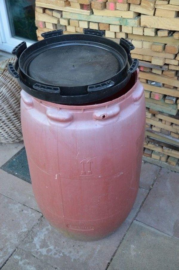 Regentonne Regenfass 120 Liter Gebraucht Mit Deckel S Fotos