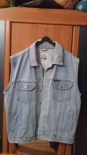 Jeans Weste hellblau Gr L