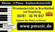 Klavierunterricht, Keyboardunterricht, E-
