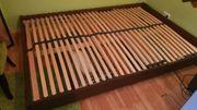 Futon Bett 140 200 schwarzbraun