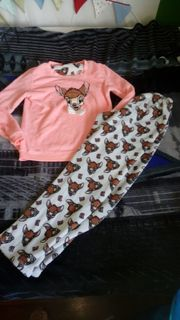 Bambi kuschel schlafanzug gr M