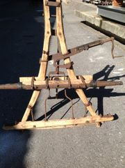 Holztransportgerät für Pferde