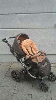Kinderwagen Hartan Topline mit Babyschale