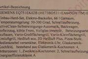 Siemens Einbau-Herd-