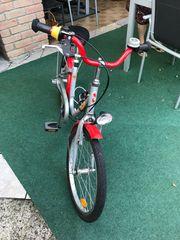 Puky Skyride Silber-Rot Kinder-Fahrrad 20