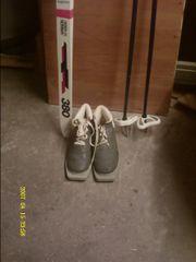 Langlauf Skier mit