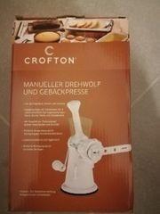 Fleischwolf manuell mit Gebäckaufsatz