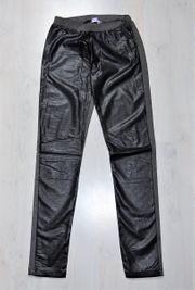 Leggings Stoff - Lederoptik Größe 36