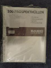 95 Stück Prospekthüllen Klarsichthüllen DIN