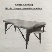 Transportable Massageliege