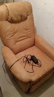 Haselnußbrauner Kunstleder Sessel