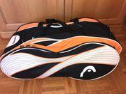 Tennistasche Head Radikal Tennis orange-weiß-schwarz